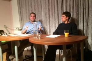 Max Haberich und Thomas Aiginger während der Lesung