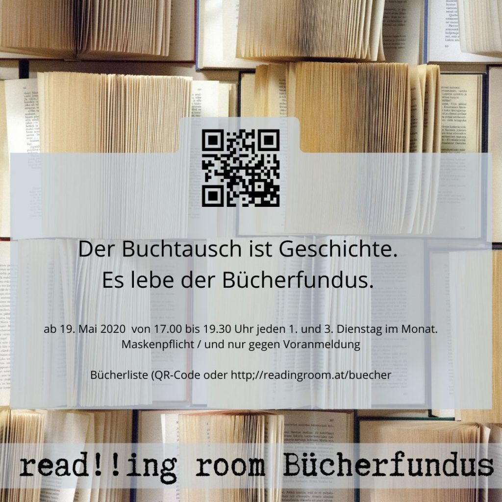 QR Code Bücherfundus read!!ing room