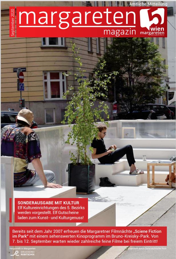 Cover Broschüre margareten magazin