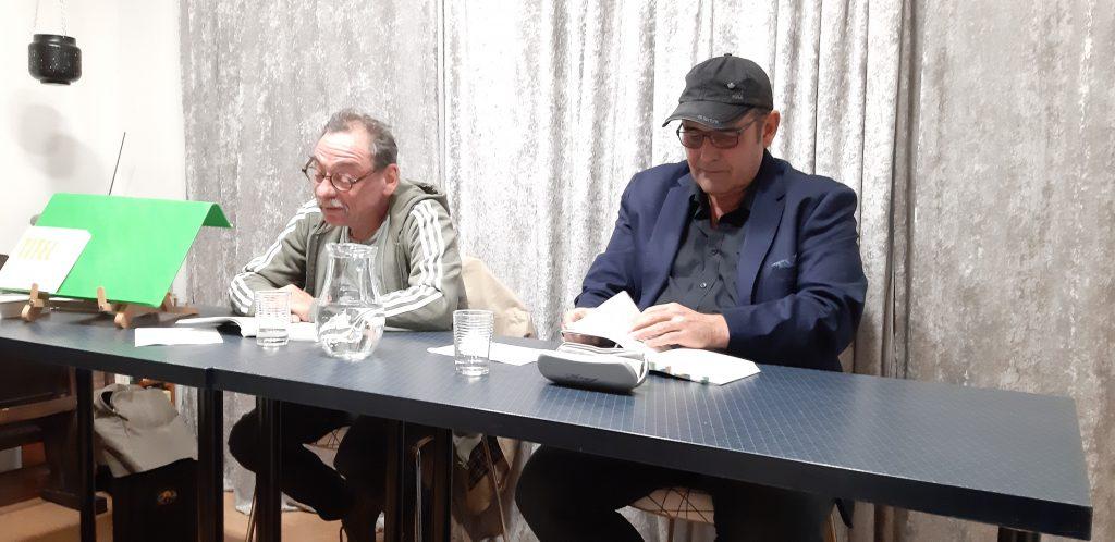 Armin Baumgartner und Rudolf Kraus im read!!ing room. Buchpräsentation am 21. September 2021